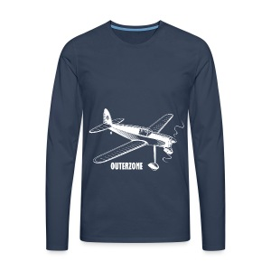 Outerzone t-shirt, white logo - Men's Premium Longsleeve Shirt