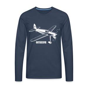 Outerzone t-shirt, white logo - Men's Premium Longsleeve Shirt