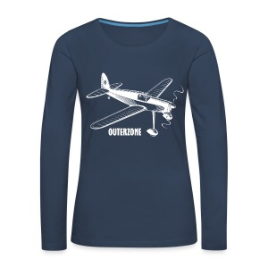 Outerzone t-shirt, white logo - Women's Premium Longsleeve Shirt