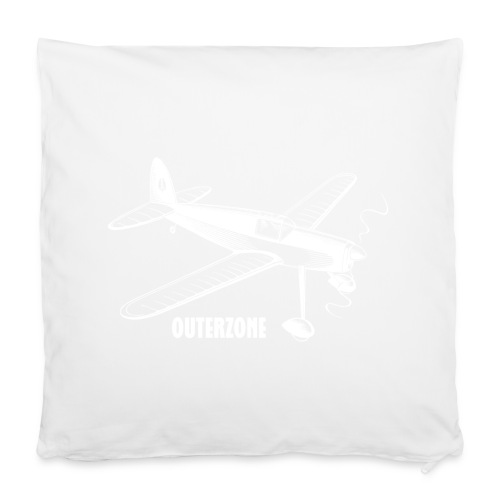 Outerzone t-shirt, white logo - Pillowcase 40 x 40 cm