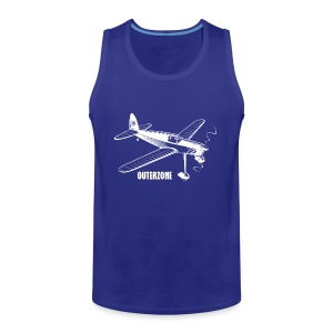 Outerzone t-shirt, white logo - Men's Premium Tank Top