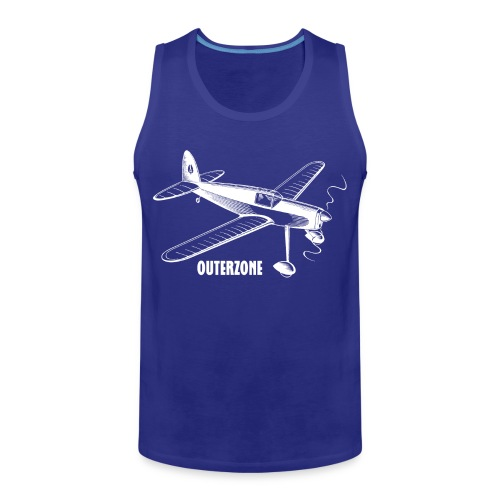 Outerzone t-shirt, white logo - Men's Premium Tank Top