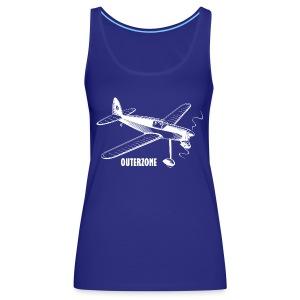 Outerzone t-shirt, white logo - Women's Premium Tank Top