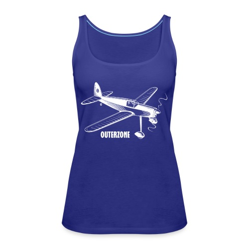 Outerzone t-shirt, white logo - Women's Premium Tank Top
