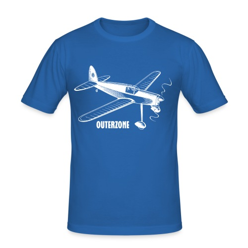 Outerzone t-shirt, white logo - Men's Slim Fit T-Shirt