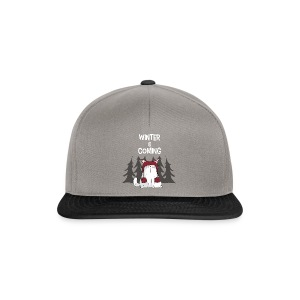 Mrou le chat Winter is coming - Casquette snapback