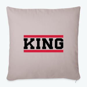 Sofa pillow cover 44 x 44 cm - Our donators are kings for us. All profit goes to our charity Light of Love e.V. So it's simple to be a king #beaking