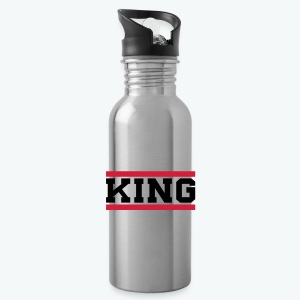 Water Bottle - Our donators are kings for us. All profit goes to our charity Light of Love e.V. So it's simple to be a king #beaking