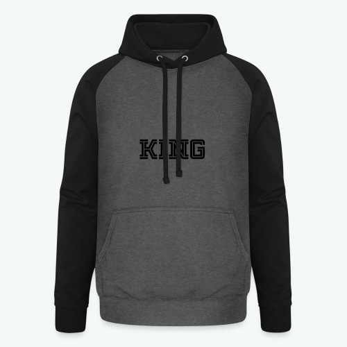 Unisex Baseball Hoodie - Our donators are kings for us. All profit goes to our charity Light of Love e.V. So it's simple to be a king #beaking