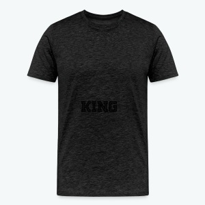 Men's Premium T-Shirt - Our donators are kings for us. All profit goes to our charity Light of Love e.V. So it's simple to be a king #beaking
