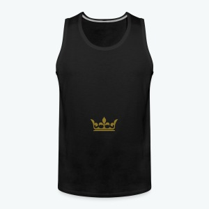 Men's Premium Tank Top - Our donators are kings for us. All profit goes to our charity Light of Love e.V. So it's simple to be a king #beaking