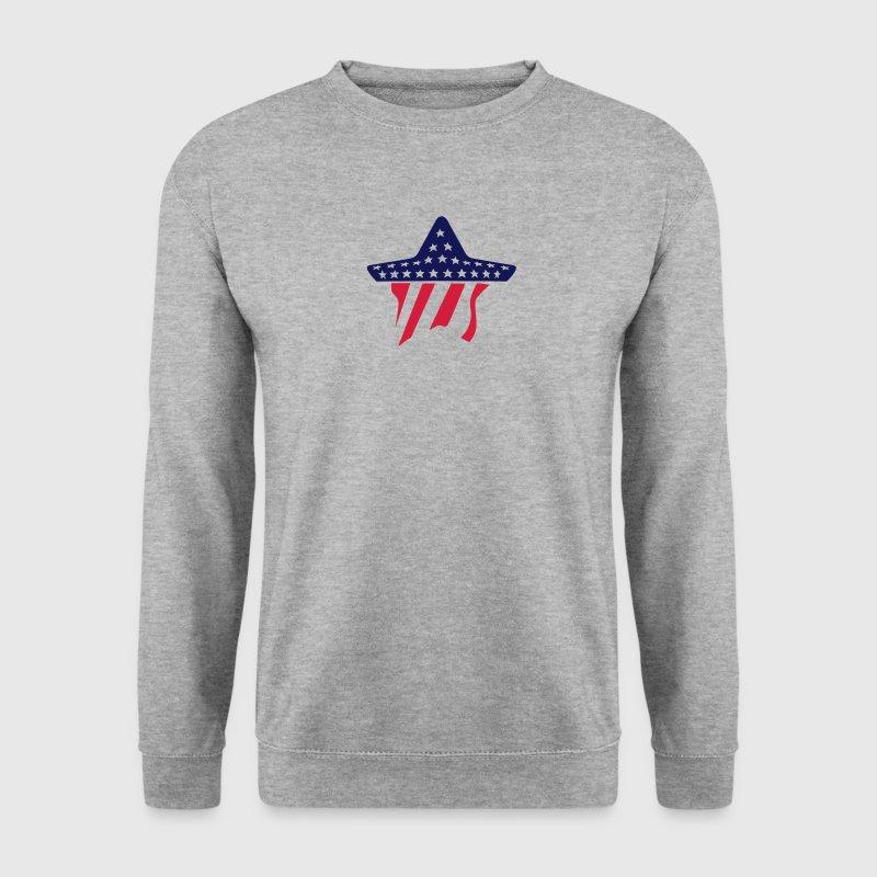etoile drapeau americain americaine usa Sweat-shirts - Sweat-shirt Homme