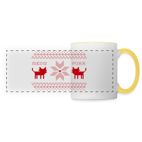 Christmas Cats - Taza panorámica