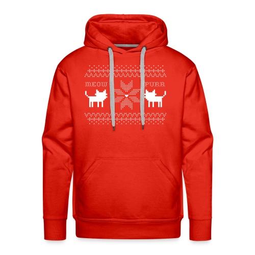 Christmas Cats - Sudadera con capucha premium para hombre