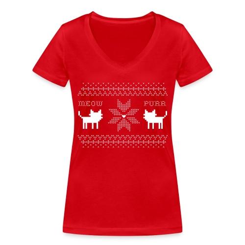 Christmas Cats - Camiseta ecológica mujer con cuello de pico de Stanley & Stella