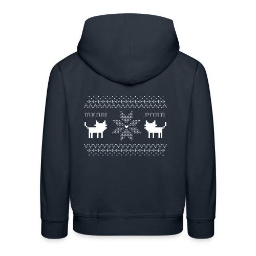 Christmas Cats - Sudadera con capucha premium niño