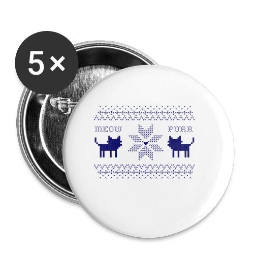 Christmas Cats - Paquete de 5 chapas pequeñas (25 mm)