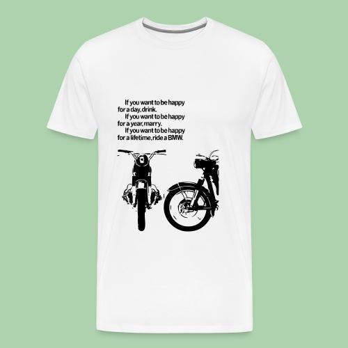 BMW Vintage Motorcycles  - Maglietta Premium da uomo