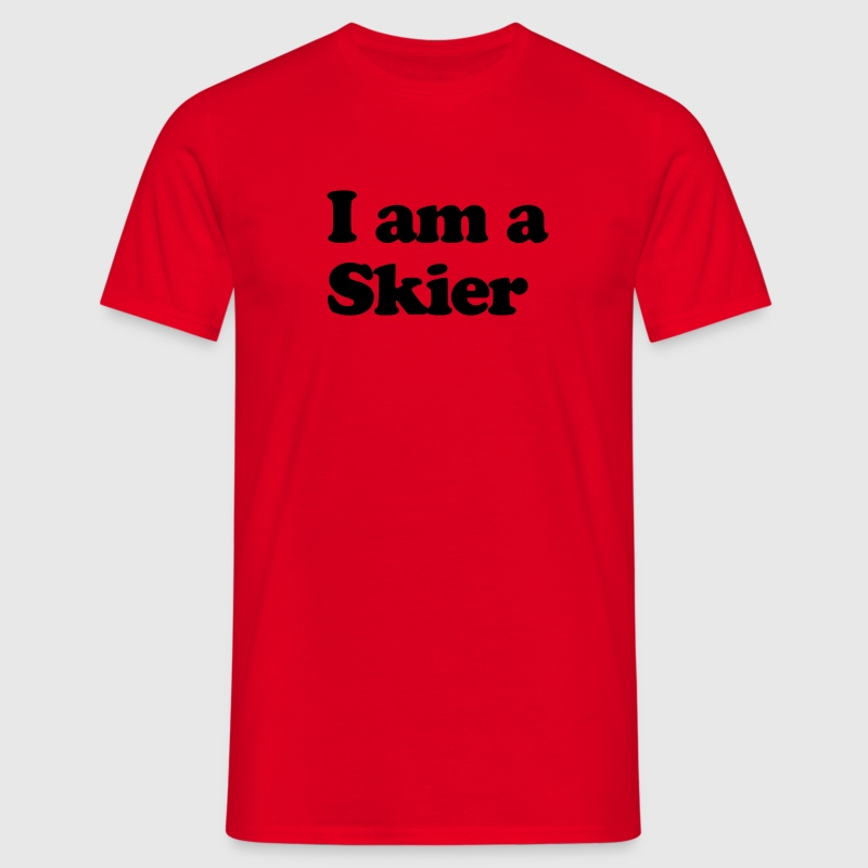 I AM A SKIER premium hoodie - Men's T-Shirt