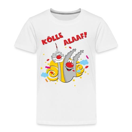 Karneval Kölle Alaaf RAHMENLOS Geschenk Fasching - Kinder Premium T-Shirt