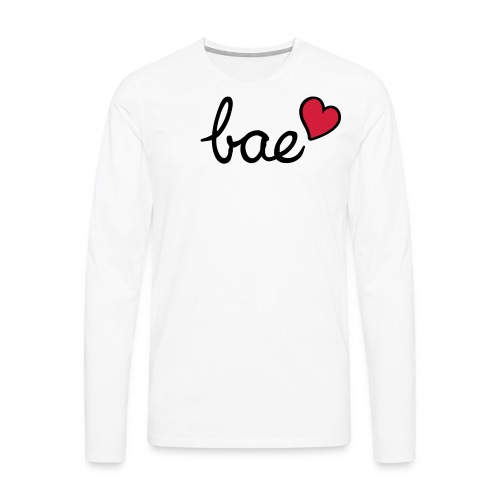 Bae & red heart - Men's Premium Longsleeve Shirt