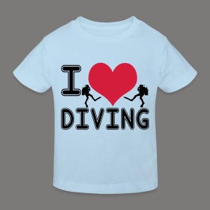 I love diving - Kinder Bio-T-Shirt