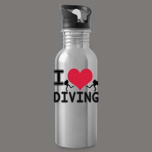 I love diving - Trinkflasche