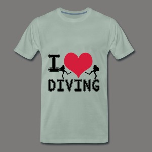 I love diving - Männer Premium T-Shirt