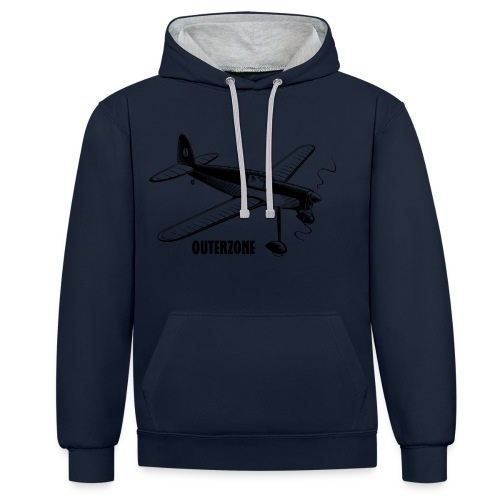 Outerzone t-shirt, black logo - Contrast Colour Hoodie