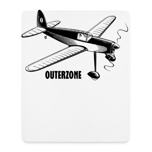 Outerzone t-shirt, black logo - Mouse Pad (vertical)