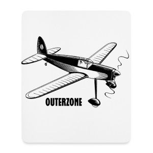 Outerzone t-shirt, black logo - Mouse Pad (vertical)