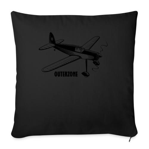 Outerzone t-shirt, black logo - Sofa pillow cover 44 x 44 cm