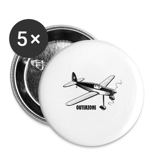 Outerzone t-shirt, black logo - Buttons medium 32 mm