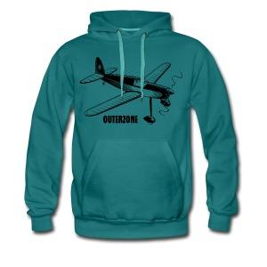Outerzone t-shirt, black logo - Men's Premium Hoodie