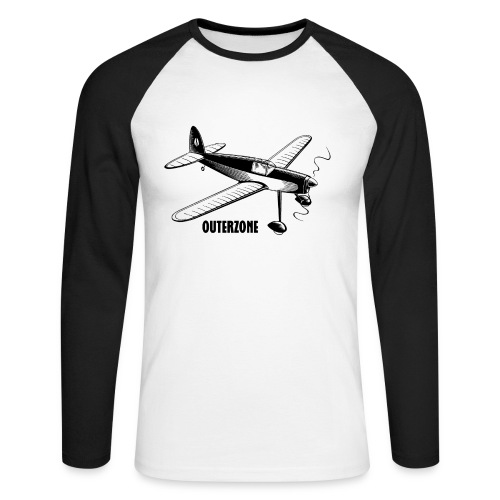 Outerzone t-shirt, black logo - Men's Long Sleeve Baseball T-Shirt