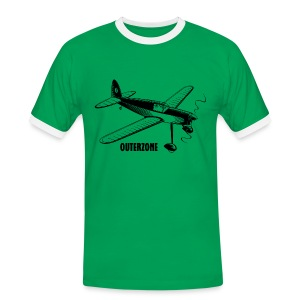 Outerzone t-shirt, black logo - Men's Ringer Shirt