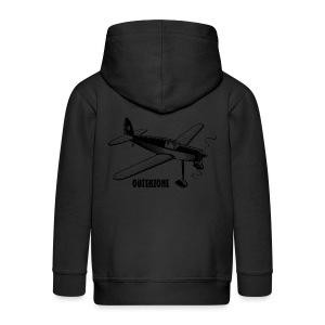Outerzone t-shirt, black logo - Kids' Premium Zip Hoodie
