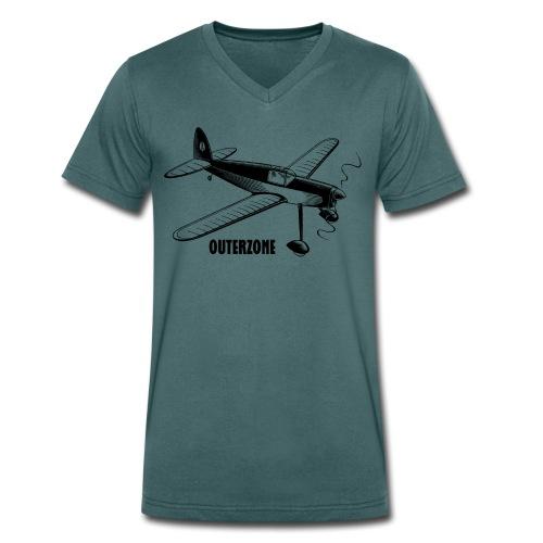 Outerzone t-shirt, black logo - Men's Organic V-Neck T-Shirt by Stanley & Stella