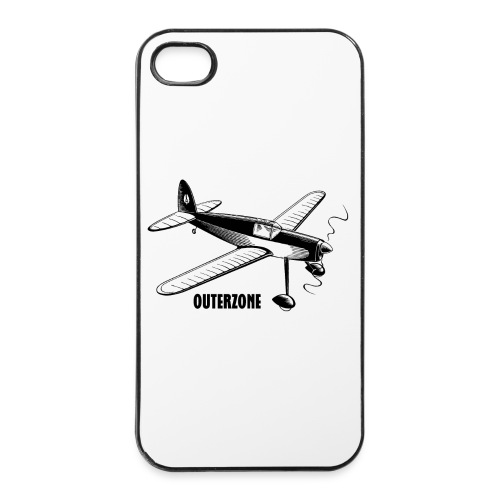 Outerzone t-shirt, black logo - iPhone 4/4s Hard Case