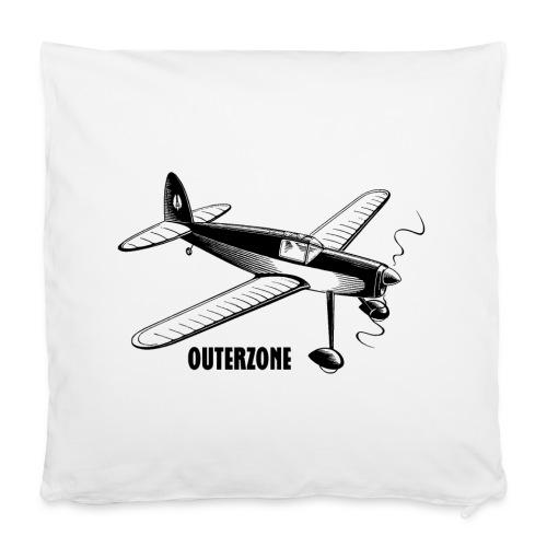 Outerzone t-shirt, black logo - Pillowcase 40 x 40 cm