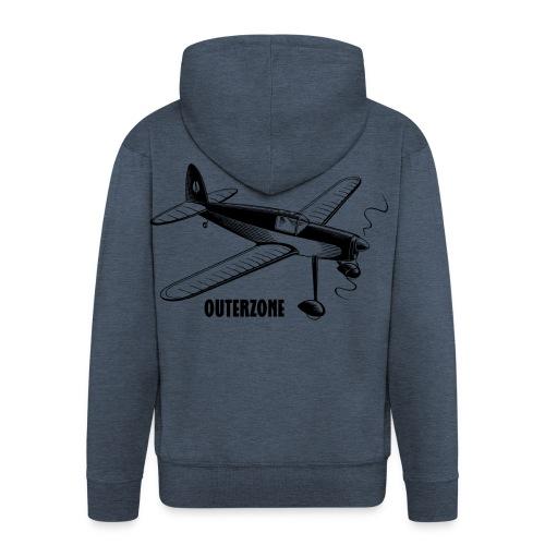 Outerzone t-shirt, black logo - Men's Premium Hooded Jacket