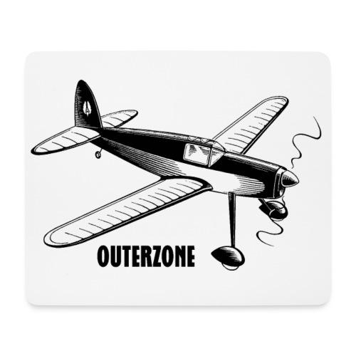 Outerzone t-shirt, black logo - Mouse Pad (horizontal)