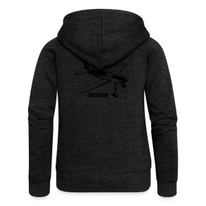 Outerzone t-shirt, black logo (women) - Women's Premium Hooded Jacket