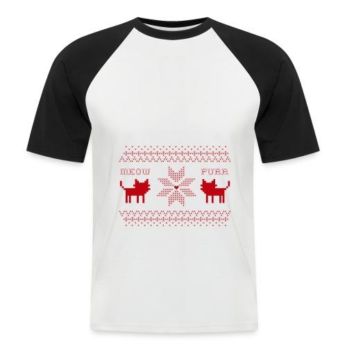 Christmas Cats - Camiseta béisbol manga corta hombre