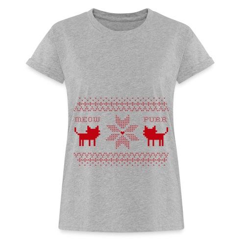 Christmas Cats - Camiseta holgada de mujer