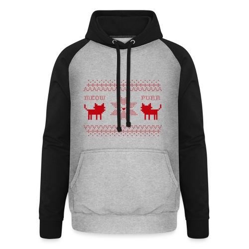 Christmas Cats - Sudadera con capucha de béisbol unisex