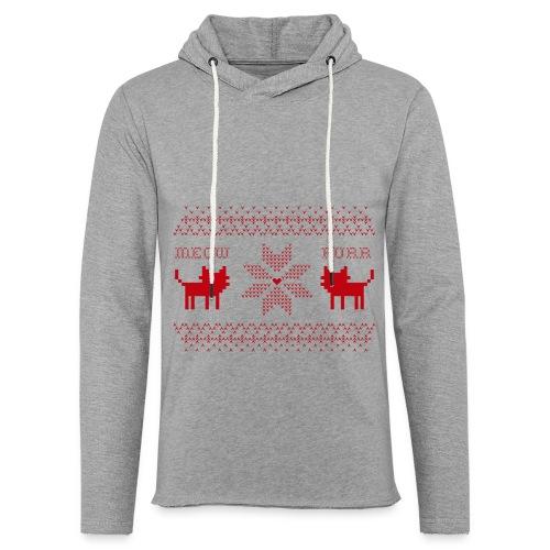 Christmas Cats - Sudadera ligera unisex con capucha