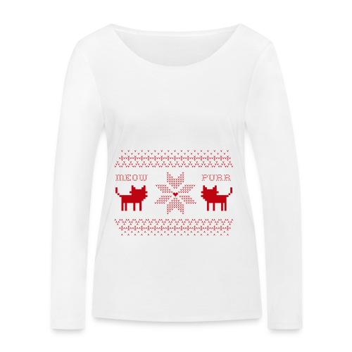 Christmas Cats - Camiseta de manga larga ecológica mujer de Stanley & Stella