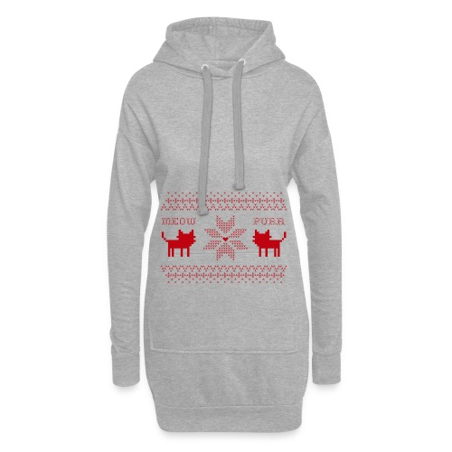 Christmas Cats - Sudadera vestido con capucha