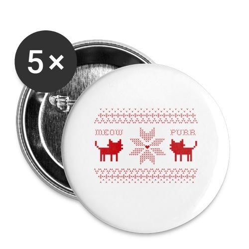 Christmas Cats - Paquete de 5 chapas grandes (56 mm)